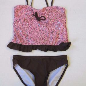 CANDIES Girls Swim Suit 10 Tankini 2 PC Swimwear